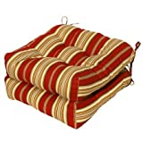 Greendale Home Fashions Indoor/Outdoor Chair Cushions, Roma Stripe, 20-Inch, Set of 2