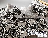 ランチェッティ Palazzoパラッツォ ボックスシーツ セミダブル  120×200×30cm  ブラック pal-bsd-A-1