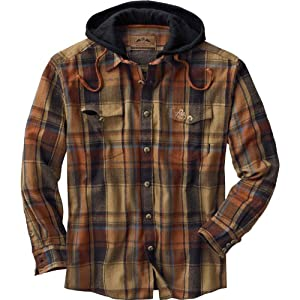 Lodge Pole Hooded Flannel Shirt by Legendary Whitetails