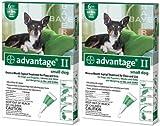 ADVANTAGE II Dog Flea Control 0-10 lbs Green 12 Month
