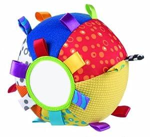 Playgro 0180271 - Pelota de tela con texturas, espejo, etiquetas y sonajero en Bebe Hogar