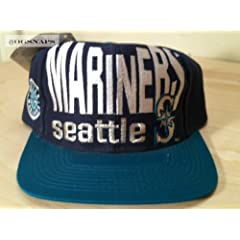 Seattle Mariners Vintage Big Logo Snapback Hat by Logo 7