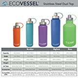 Eco Vessel Boulder Triple-Insulated Stainless Steel Water Bottle with Screw Cap