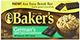 Bakers Germans Sweet Chocolate Baking Bar, 4 Ounce (Pack of 12)