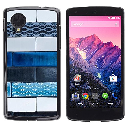 Pulsar Snap-on Series plastica caso dura Guscio Protettivo Cassa Cover Case per LG Google Nexus 5 D820 D821 , Art Paint Street Hand Made