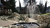 Teichfontäne 1000 L/h 3 AufsätzeTeich Fontäne HJ-1143 Springbrunnen Pumpe Bachlaufpumpe
