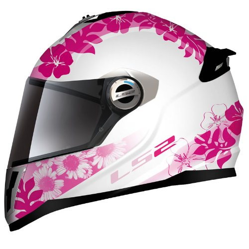 LS2 FF392 Vanity Junior Motorcycle Helmet L White/Pink