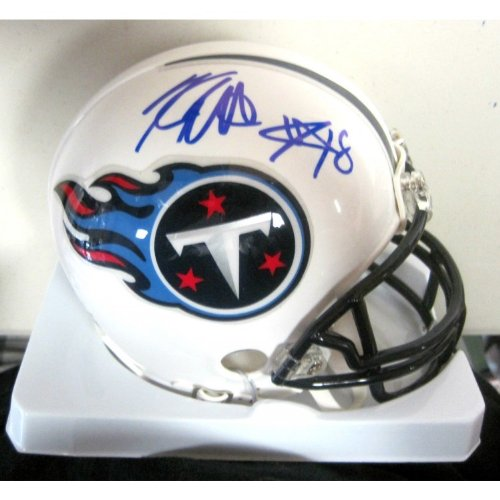 Kenny Britt Tennessee Titans Autographed Signed Mini Helmet With Coa at Amazon.com