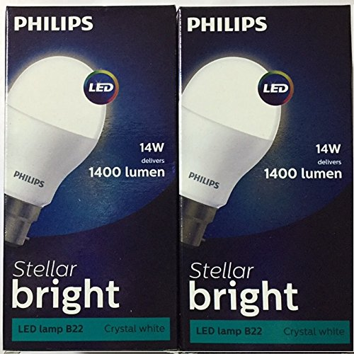 Stellar Bright 14W LED Bulb (Cool Day Light, Pack of 2)