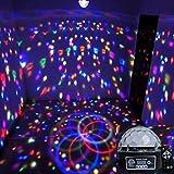 Adsled 9 LED Remote Control DMX 512 Crystal Magic Ball Effect Light Digital Disco Dj Stage Lighting US Plug (Color: Green)