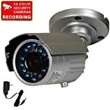 51KMCArh%2BGL. SL160  VideoSecu security camera day night vision outdoor weatherproof 420TVL 1/3 SONY CCD build in audio microphone 20 Infrared LEDs with free power supply and warning sticker CEN