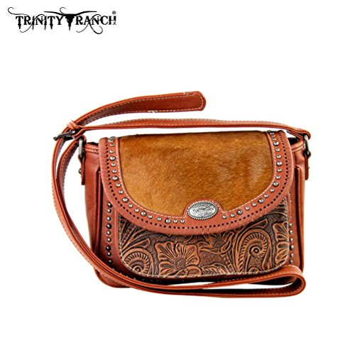 tr168-8287-trinity-ranch-tooled-hair-on-leather-collection-handbag-brown