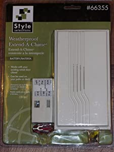 Style Selections Weatherproof Extend-a-chime (Works with Your Existing Wired Door Chime)