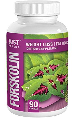 Just Potent Pharmaceutical Grade Forskolin Extract :: 20% Forskolin :: 250Mg Coleus Forskohlii Per Serving :: 90 Capsules