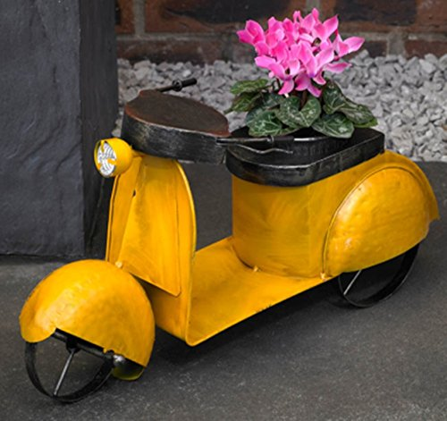 delightful-large-51cm-long-vintage-yellow-moped-scooter-planter-garden-flower-pot-accessory-includes