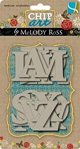 "GCD Studios Chip Art By Melody Ross Chipboard Alphabet-Medium: Average Size 2x2"""