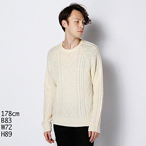 MKオム(MK homme) セーター(ケーブルクルーネックセーター)【オフホワイト/46(M)】