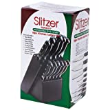 Slitzer Germany® Forged Bolster 12pc Kitchen Cutlery Set with Wood Block