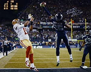 Richard Sherman Autographed Seattle Seahawks 16x20 Photo (NFC Champ Tip w JSA by DenverAutographs