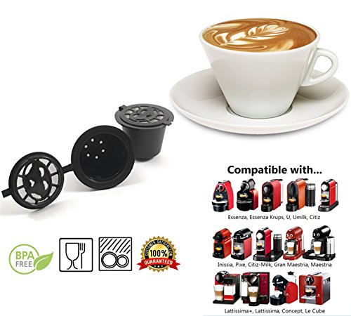 galleon reusable nespresso capsules 6 pack refillable pods for nespresso machines. Black Bedroom Furniture Sets. Home Design Ideas