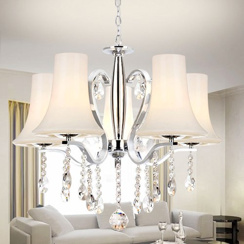 Lightinthebox Contemporary Fashionable 5 Light Chandelier With Crystal Pendants Ceiling Light Fixture For Dining Room, Bedroom, Living Room With Bulb Not Included front-1001960