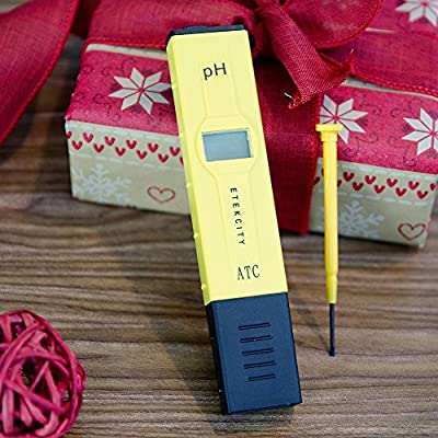 Etekcity High Accuracy Pocket Size Handheld pH Meter Pen Tester, Yellow