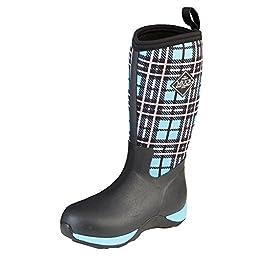 Kids\' Muck Arctic Adventure Waterproof Insulated Winter Boots, BLUE PLAID, 4 BIG KID