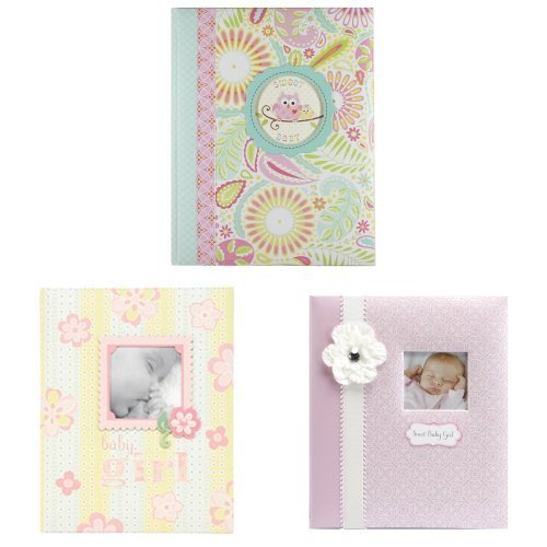 C.R. Gibson Baby Album 3 Pack, Assorted Designs - 1