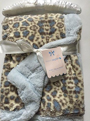 Monlapin Blue Cheetah Baby Blanket. - 1