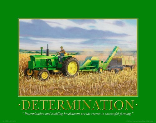 John Deere Tractor Motivational Poster Art Print 11X14 Toys Charles Freitag Wall Decor Pictures