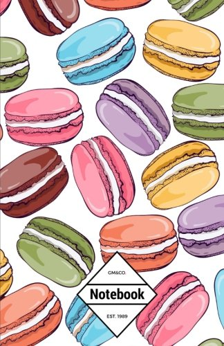 """GM&Co: Notebook Journal Dot-Grid, Lined, Graph, 120 pages 5.5""""x8.5"""": Rainbow Macaroon Dessert"""