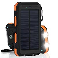 Solar Charger 10000mAh Solar Power Bank ...
