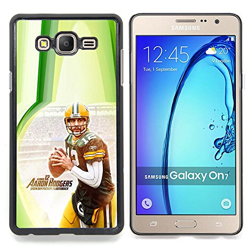 - Aaron Rodger 12 NFL - - Copertura della cassa impatto con Art Pattern Design FOR Samsung Galaxy On7 G6000 Queen Pattern