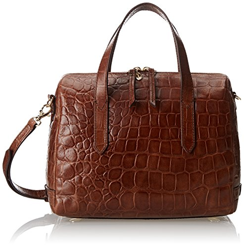 Fossil Sydney Crocodile Satchel, Brown, One Size