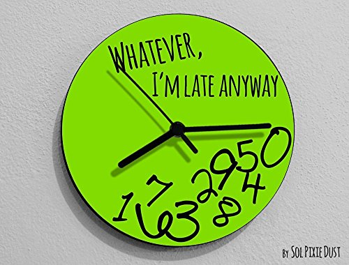 Whatever I'm Late Anyway / Round Green - Wall Clock