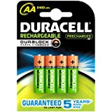 Duracell - Pile Rechargeable - AA x 4 - 2400 mAh (LR6)