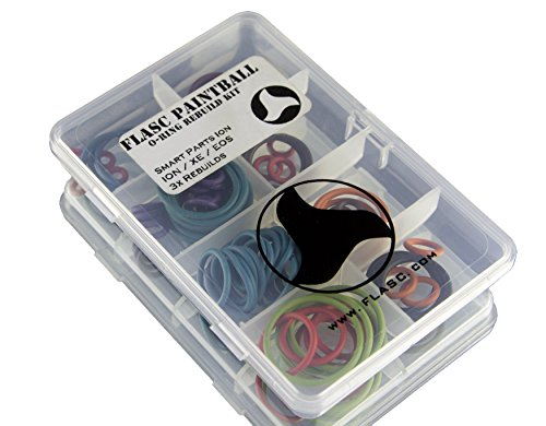 Smart Parts Ion 3x color coded paintball o-ring rebuild kit by Flasc Paintball (Smart Parts Paintball compare prices)