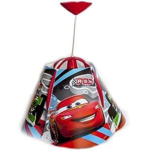Disney® PIXAR Cars Children Kids Ceiling Pendant Light + Lamp Shade Lampshade (Complete Fittings) from Disney®