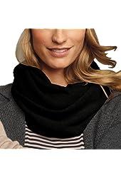 Parisbonbon Women's 100% Cashmere Solid Infinity Scarf