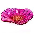 Glass Flower Dish - Pink