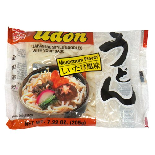 Myojo Udon Japanese Style Noodles with Soup Base, Mushroom Flavor, 7.22-Ounce Bag (Pack of 15)