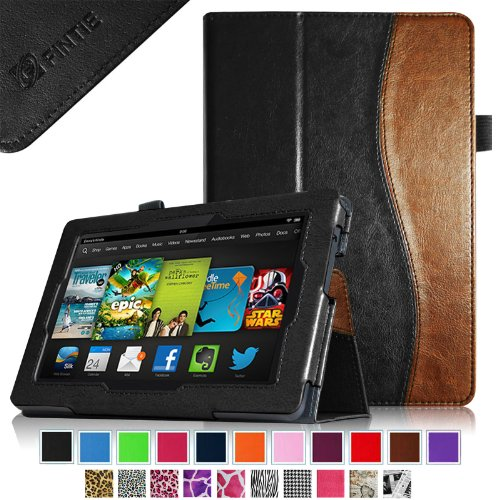 """Fintie Amazon All New Kindle Fire Hd 7"""" Slim Fit Folio Case Cover With Auto Sleep / Wake Feature (Will Only Fit All New Kindle Fire Hd 7 2013 Model), Dual Color"""