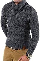 Tazzio pull en tricot avec col châle chandail 3500