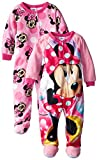 Disney Little Girls' Mouse 2 Pack Dots Footed Blanket Sleepers