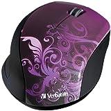 Verbatim Wireless Optical Design Mouse, Purple 97783