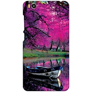 Printland Pink Tree Phone Cover For Xiaomi Mi4i MZB4300IN