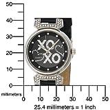 XOXO Women's XO3063 Black Leather Strap Watch