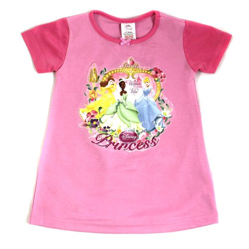 Girls Disney Princess Nightie / Nightdress - From Age 2 to 8 Years