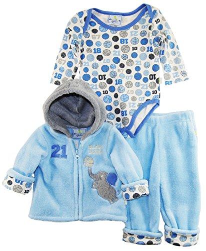 duck-goose-baby-boys-basketball-slam-dunk-sherpa-jacket-bodysuit-3pc-pant-set-blue-3-6-months