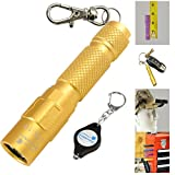 Lumintrail LTK-10 Mini Pocket 130 Lumen LED Keychain Flashlight with Magnetic tail-cap and reversible clip , including FREE bonus LED Keychain Light - Assorted Colors (Gold)